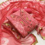 Top Bottom Dupatta Printed Dress Material 2
